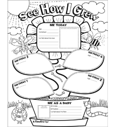 graphic organizer posters my timeline grades k 2 by liza charlesworth. Black Bedroom Furniture Sets. Home Design Ideas