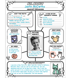 Printables All About Me Worksheet Middle School product graphic organizer posters all about me web grades 3 6 6