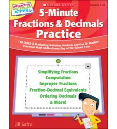 5-Minute Fractions & Decimals Practice
