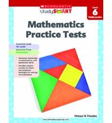 Image of Scholastic Study Smart Mathematics Practice Tests Level 6