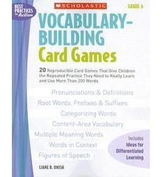 Vocabulary–Building Card Games: Grade 6