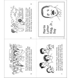 Martin Luther King Jr Day Mini Book By