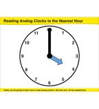 Reading Analog Clocks to the Nearest Hour: Common Core Math Lesson, Grade 1