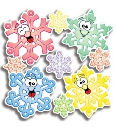 Colorful Snowflakes Accent Punch-Outs