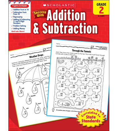 Scholastic Success With Addition & Subtraction: Grade 2