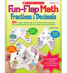 Fun-Flap Math: Fractions & Decimals
