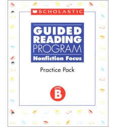 Guided Reading Nonfiction Focus: Level B, Practice Pack