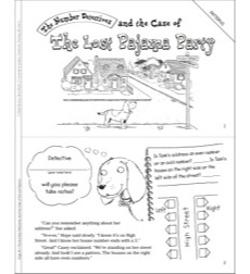 The Case of the Lost Pajama Party (Patterns): Math Mystery Mini-Book