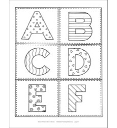 Alphabet Letter Cards and Number Cards Reproducible Pattern