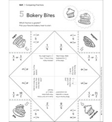 Bakery Bites (Comparing Fractions): Fun-Flap Hands-On Math Manipulative
