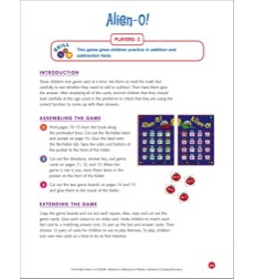File-folder Game - Addition & Subtraction: Alien-O! (mixed addition and subtraction facts)