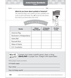 American Symbols: Social Studies Vocabulary Packet
