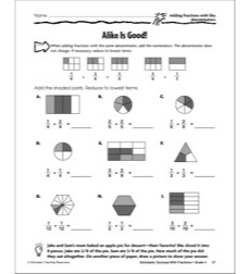 Alike Is Good! (Adding Fractions With Like Denominators): Scholastic Success With Fractions (Grade 4)