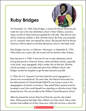 Ruby Bridges: Text & Organizer