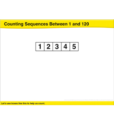 Counting Sequences Between 1 and 120: Math Lesson