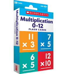 This is an image of Lively Printable Multiplication Flash Cards 0-12