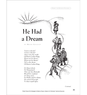 He Had a Dream: Fluency-Building Poem