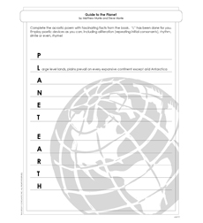 Planet Earth: Guide to the Planet - Activity Sheet 608777