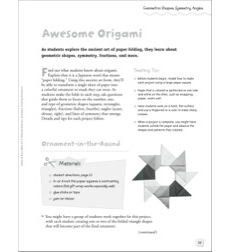 Awesome Origami (Geometric Shapes/Symmetry/Angles): Quick & Easy Math Art