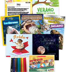 My Books Summer Spanish Grade 2 Nonfiction Pack
