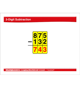 Math Review: 3-Digit Subtraction, Multiples of 10, Bar Graphs, Area