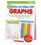 10 Write-On/Wipe-Off Graphs Flip Chart