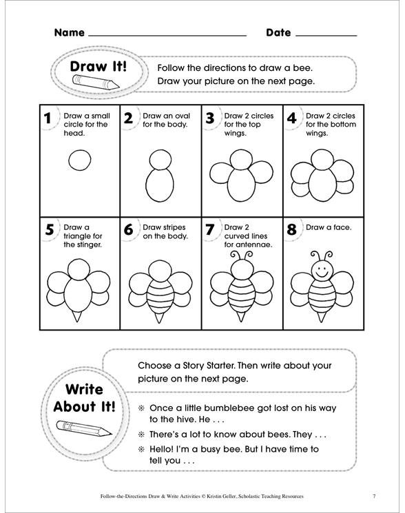 follow the directions draw write activities by kristin. Black Bedroom Furniture Sets. Home Design Ideas