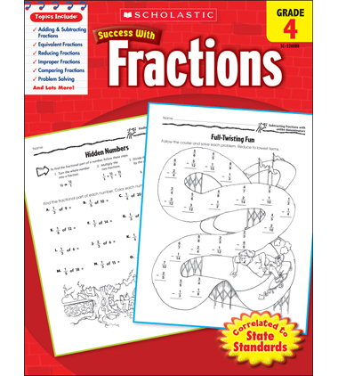 Scholastic Success With Fractions: Grade 4 Workbook