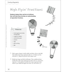 High Flyin' Fractions (Equivalents): Quick & Easy Math Art
