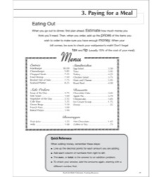 Paying for a Meal: Life Skills Practice (Math)