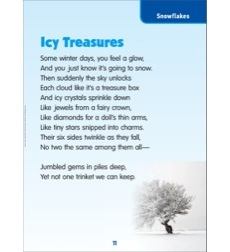 Icy Treasures (Snowflakes): Science Poem