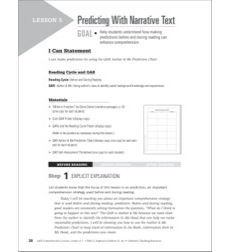 Predicting With Narrative Text: QAR Comprehension Lessons (Grades 4-5)