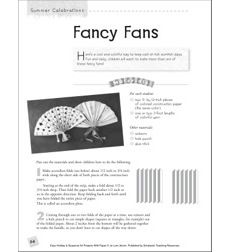 Fancy Fans: Summer Art Project