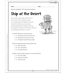 Ship of the Desert: Grade 2 Close Reading Passage