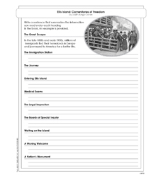Cornerstones of Freedom: Ellis Island - Activity Sheet