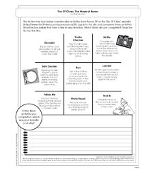 39 Clues, The #1: The Maze of Bones - Activity Sheet