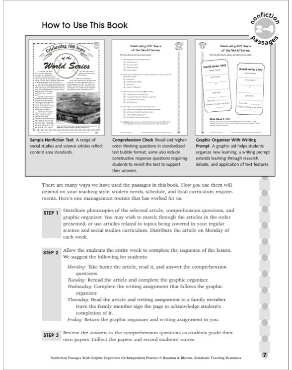 Nonfiction Passages With Graphic Organizers For Independent