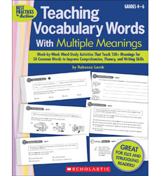 Teaching Vocabulary Words With Multiple Meanings Grades 4–6