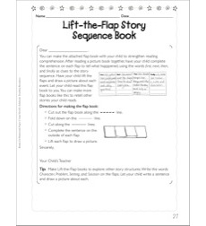 Lift-the-Flap Story Sequence Book (Retelling): Language Arts Homework Page
