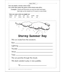 Stormy Summer Day (Personification): August Poetry Frame