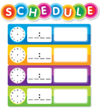 Color Your Classroom: Schedule Mini Bulletin Board