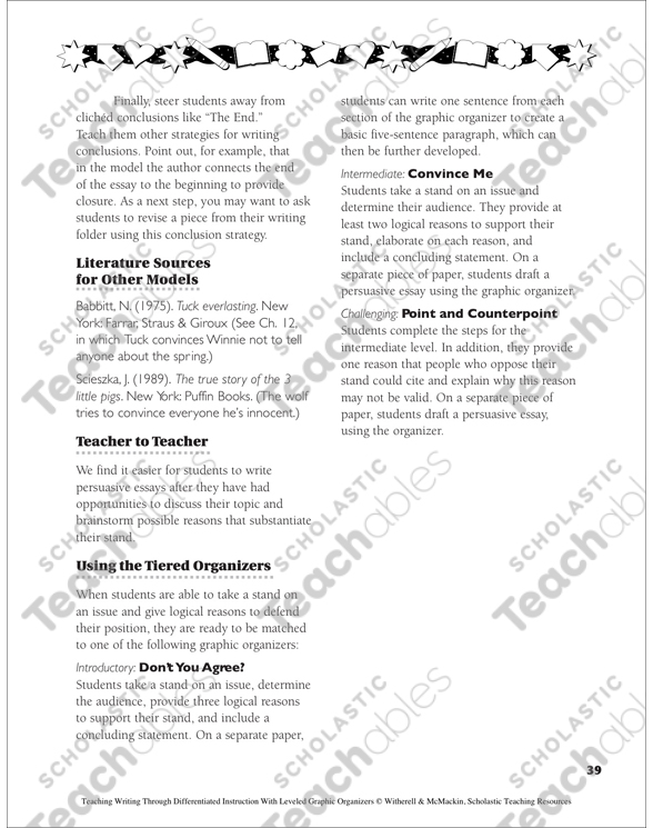 Health Education Essay Persuasive Essay Nonfiction Writing Leveled Graphic Organizers For  Differentiated Instruction Grades  Essay On Global Warming In English also English Language Essay Topics Persuasive Essay Nonfiction Writing Leveled Graphic Organizers  Essays On Health Care
