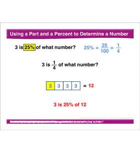Math Review: Part/Percent to Determine a Number, Exponents, Value of a Variable, Least Common Multiple