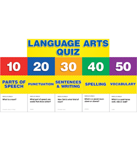 Language Arts Class Quiz: Grades 2-4 Pocket Chart Add-ons