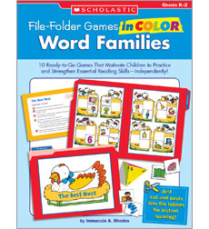 File-Folder Games in Color: Word Families