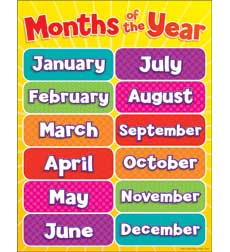 Amazon.com: Carson Dellosa Months of the Year Chart (6277): Office ...