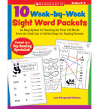 10 Week-by-Week Sight Word Packets