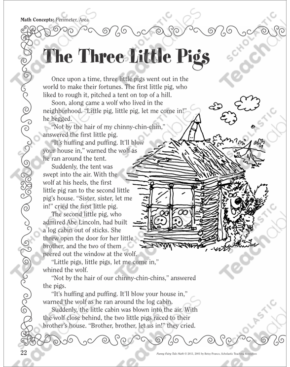 It is a picture of Dramatic Three Little Pigs Printable Story