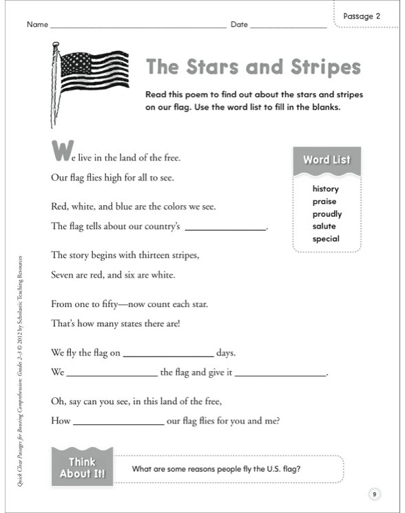 Quick Cloze Passages for Boosting Comprehension: Grades 2–3 by ...