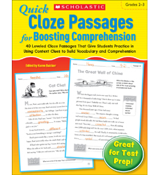 Quick Cloze Passages for Boosting Comprehension: Grades 2-3 by